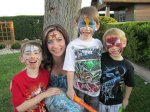 boys love superhero face painting!