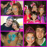 Face Painting at a Barbie Themed Birthday party at Mulligan's in Murrieta