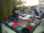 Here is my face painting setup and view from the ballroom of the Hotel Del Coronado wedding. I was in the kid zone.