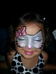 This hello kitty mask was painted at the wedding in the kid zone of the Coronado wedding.