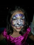 This beautiful girl wanted a full face leopard painted on her face and she loved it!