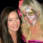 Cynnamon and her sugar skull face paint makeup design